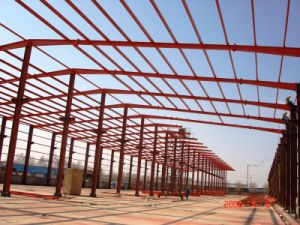 High Standard Long Span Steel Frame for Steel Structure Warehouse /Workshop pictures & photos