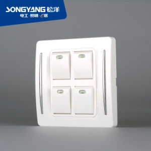 New Electric Switch White Series 4gang Wall Switch