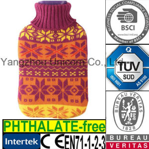CE Snow Knit Hot Water Bottle Cover