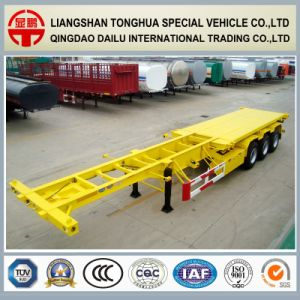 3 Axles 40FT Container Skeleton Semi Trailer on Promotion