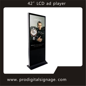 "Slim Unique Design 42"" Free Stand LCD Advertising Display"