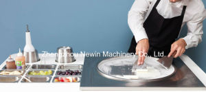 Double Pan Fried Ice Cream Machine with 6 Containers pictures & photos