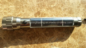 Hot Portable High Quality Aviation Aluminum Alloy Solar Flashlight (JX-SF007) pictures & photos