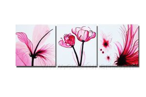 Oil on Canvas Modern Flower Painting on Canvas (FL3-208) pictures & photos