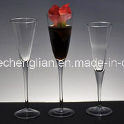 Hand Made Clear Champagne Glass (B-XB001) pictures & photos