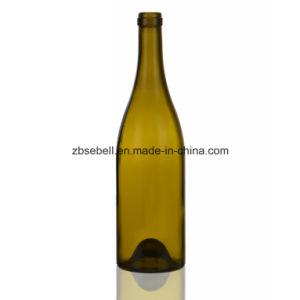 750ml Cork Finish Burgundy Glass Wine Bottles pictures & photos