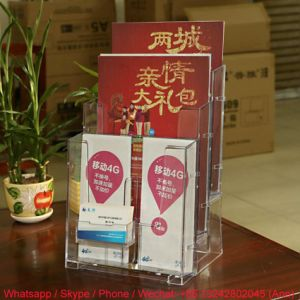 High Quality Clear Transparent Acrylic Data Shelf PMMA Document Holder pictures & photos