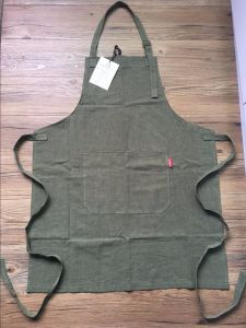 China Factory Custom High Quality Barista Linen Bib Apron for Sale pictures & photos