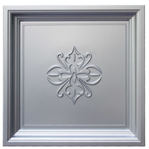 Silver FRP Tile Look 3D Waterproof Wall Panel