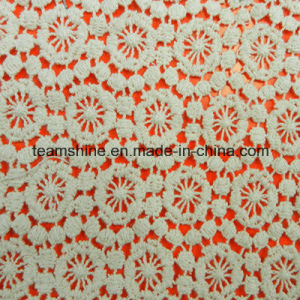 Fashion Water Soluble100 Cotton Embroidery Fabric Lace pictures & photos