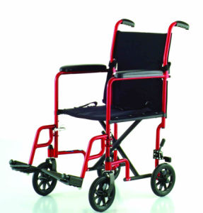Atc01 Simple and Easy Black Nylon Wheelchair pictures & photos