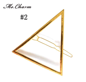 Hair Pins Made of Casting Alloy in Triangle Moon Gold pictures & photos