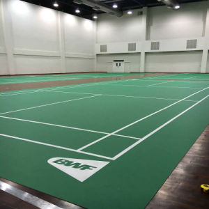 PVC Sports Flooring Indoor for Badminton Courts Litchi Pattern pictures & photos
