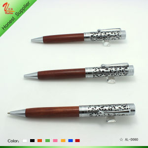 Logo Printed and Wood Engrave Ball Pen pictures & photos