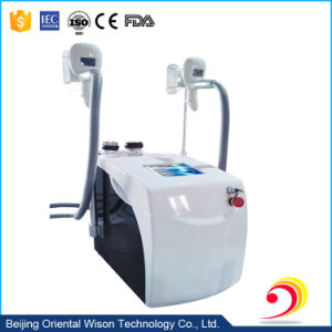 Portable Type Double Cryolipolysis Handles Cavitation Body Slimming Machine pictures & photos