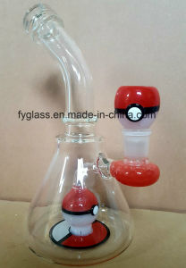 10inch Pokemon Red Color Glass Oil Rig Water Pipes pictures & photos