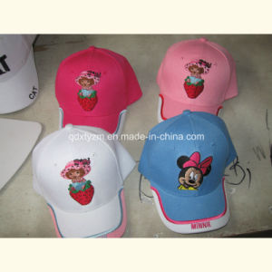 Children 6 Panels Baseball Cap with Embroidery