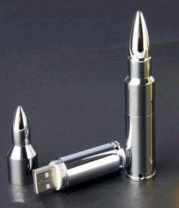 Metal Bullet Shape USB Flash Memory Pen Drive Stick(B-018)