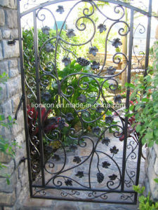 Elegant Wrought Iron Hand-Forged Interior Gate for Gardern pictures & photos