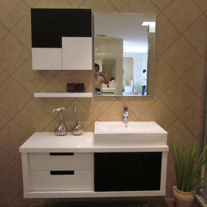 Oppein Modern Wall Mounted PVC Bathroom Vanity (OP12-P27-120) pictures & photos