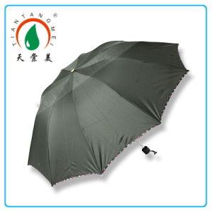 Big 10k 3 Folds Black Color Sun and Rain Umbrella Logo Printing Promotional Item