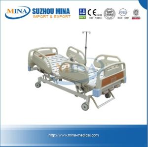 Three Cranks Hospital Bed with Central Controlled Castors (MINA-MB106)
