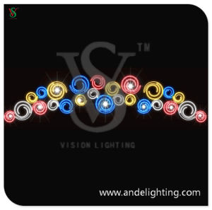 Christmas Street Lighting LED 2D Motif Light for Cross Street Decor pictures & photos