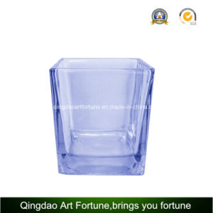 Popular Square Glass Cube Candle for Holiday Decor pictures & photos