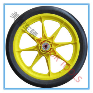 Pneumatic Rubber Wheel Bicycle Tyre with Plastic Rim pictures & photos