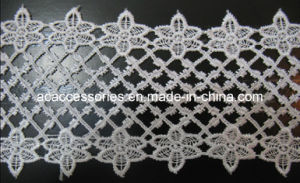 Big Size White Crochet Polyester Widely Used Chemical Lace (CCT00152/6)