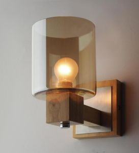 Wood Glass Wall Lamp (WHW-921) pictures & photos
