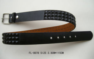 Belt with Black Pyramids Fl-0078 pictures & photos