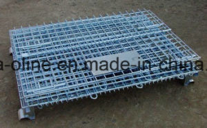 Folded Stackable Wire Mesh Container (1000*800*840) pictures & photos