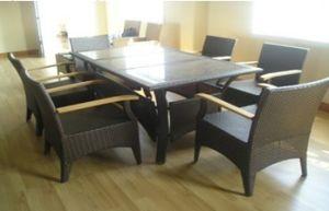 PE Rattan Outdoor/Indoor Dining Set/Meeting Furniture/Wicker Furniture Set