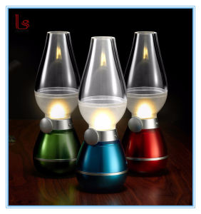 Novelty Blowing Controlled Retro LED Kerosene Lamp LED Night Light pictures & photos