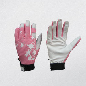 Pig Grain Leather Mechanic Work Glove (7312-pk) pictures & photos