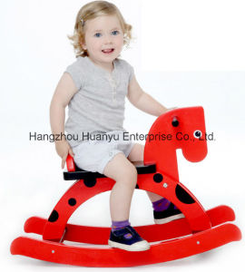 Wooden Rocking Horse-White Horse with Grey Star pictures & photos
