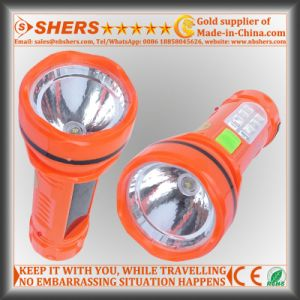 Solar 1W LED Flashlight with Desk Lamp for Searching (SH-1936) pictures & photos
