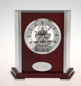 Roman Dial Piano Wood Skeleton Mantel Clock