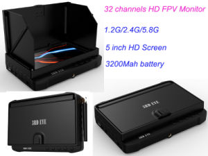 "5 "" Wireless Security DVR with Sunshade No Blue Screen Fpv Receiver Li-Battery Powered pictures & photos"