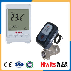 Hiwits 12V Electric Control Two-Way Ceramics Thermostatic Valve pictures & photos