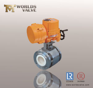 Electric Actuation Ceramic Lining Ball Valve pictures & photos