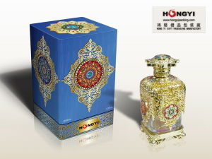 Blue Wrapped Printting Paper Gift Box for Perfume Packaging (HYP023)