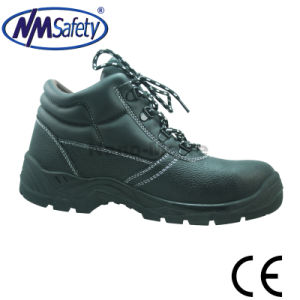 Nmsafety Steel Toe Men Leather Work Boots pictures & photos