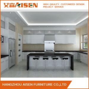 Aisen Modern Design Lacquer Wood Modular U Shaped Kitchen Cabinets pictures & photos