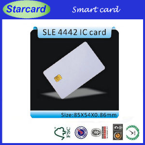 White Smart Card with Sel 4442 Chip pictures & photos