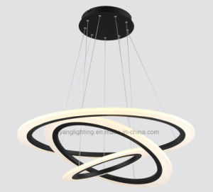 Triple Circle LED Pendant Light for House, Modern Pendant Light with Edison Chips pictures & photos