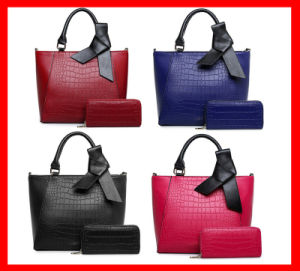 High Quality 2 PCS in 1 Handbag Set with a Bow