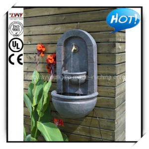 31.5 Inches Stylish Rust Fiberglass Wall Fountain with Faucet (YF1017C1-31.5H-L137)