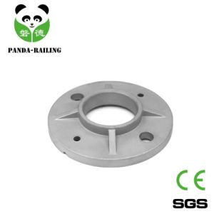 Round Tube Staircase Fitting / Stainless Steel Handrail Post Base Plate pictures & photos